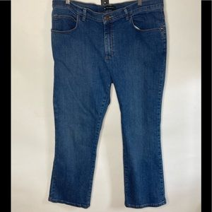 Lee Relaxed Fit Jeans Sz 16 Petite